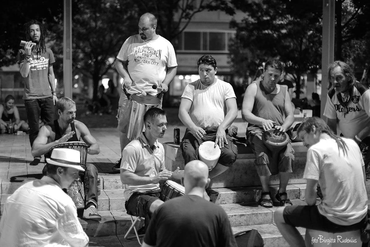 Drums at Déak Tér Budapest
