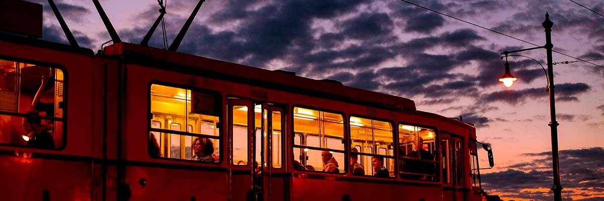 Night tram to ...