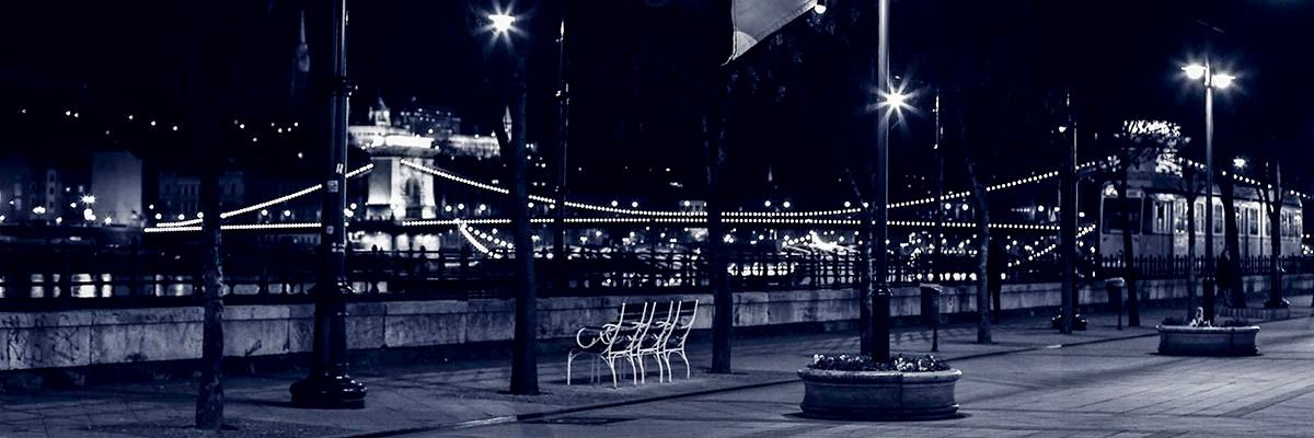 Blue Lonely Danube Walk