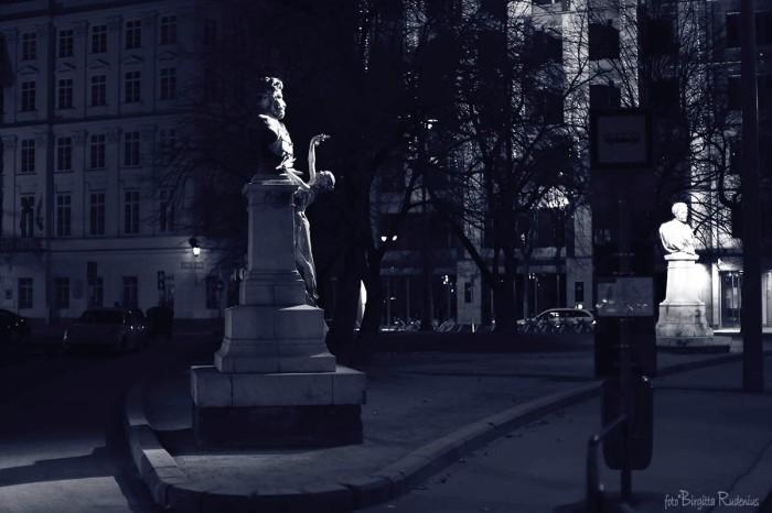 Blue Statue