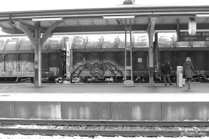 BW - Train Graffiti Art